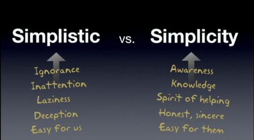 僕たちはシンプルという言葉を誤解してるのではないだろうか??